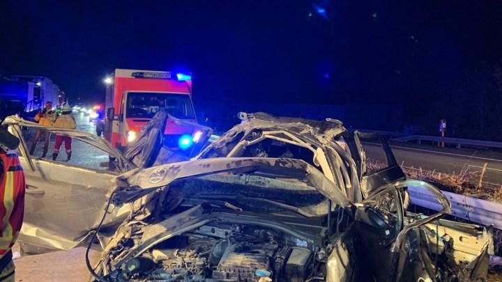 Eine Verletzte Person bei Verkehrsunfall auf der A7