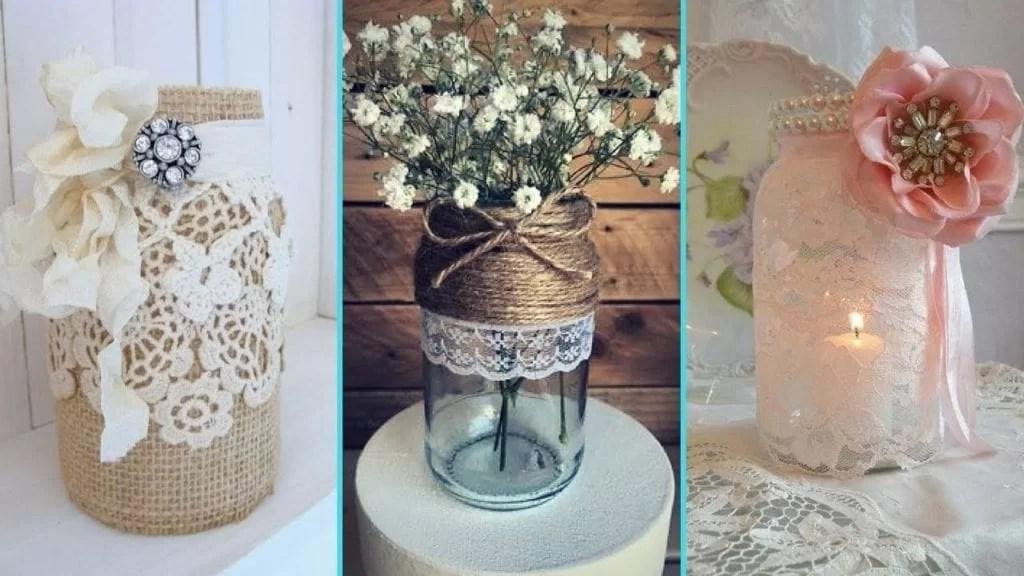 DIY Rustic Shabby Chic style Mason Jar decor ideasHome