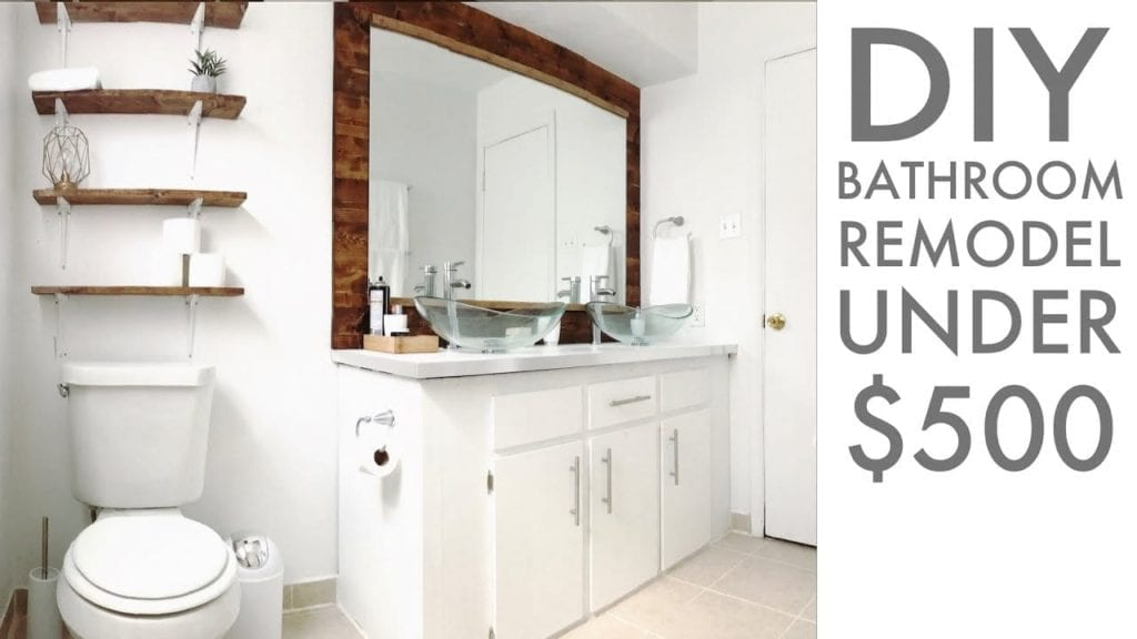 Remodeling a bathroom for Under $500, DIY, How To, Modern