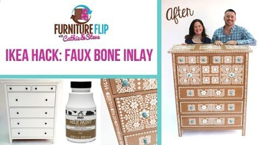 Furniture Flip Ikea Hack Edition Diy Faux Bone Inlay
