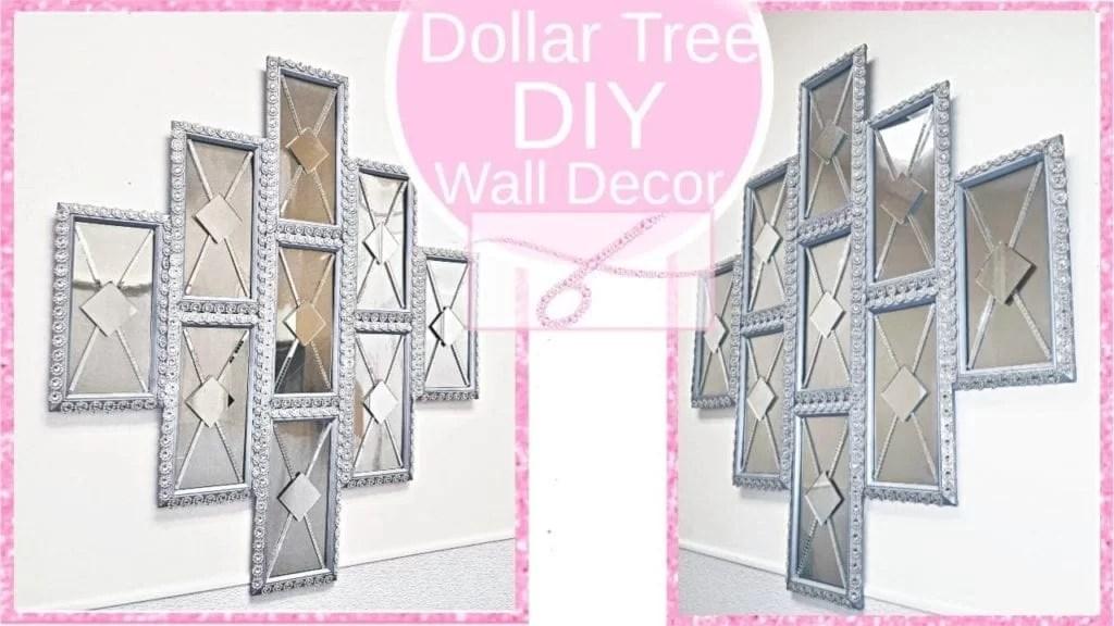 Glam Mirror Panels Diy Dollar Tree Decor Hildur K O Art