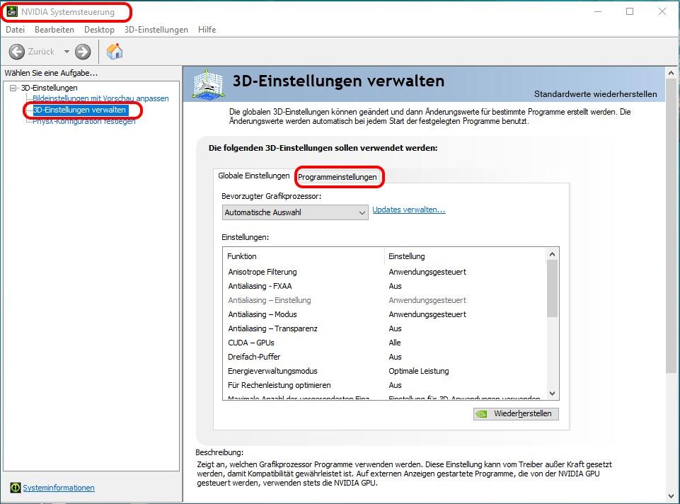 Wie weißt man EEP Train-Simulator Mission den Nvidia-Hochleistungsprozessor zu?