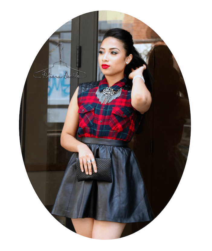 Hiliana Devila Leather & Plaid