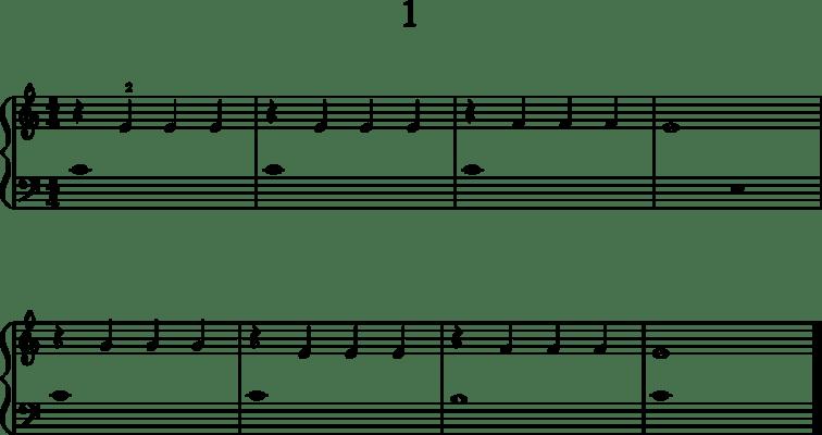 Helppoja pianonuotteja: 1