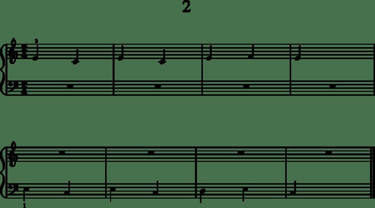 Helppoja pianonuotteja: 2