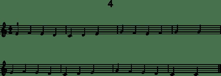 Alkeistason pianonuotteja: 4