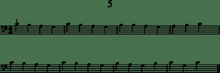 Helpot pianonuotit: 5