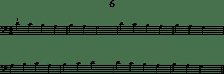Helpot pianonuotit: 6