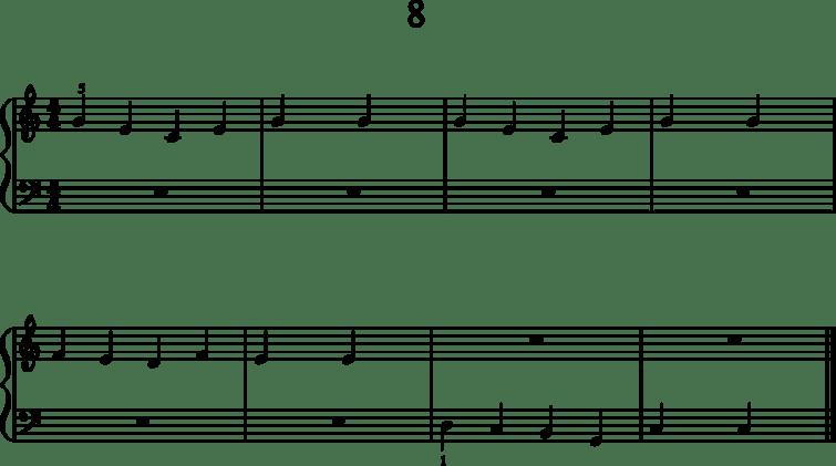Helppoja pianonuotteja: 8