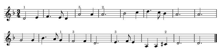 harjoitus pianolle