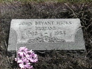 HICKS JOHN BRYANT JR TOMBSTONE