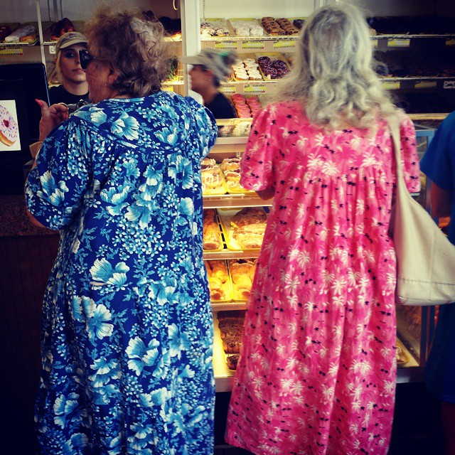 Twin aunts in moomoos
