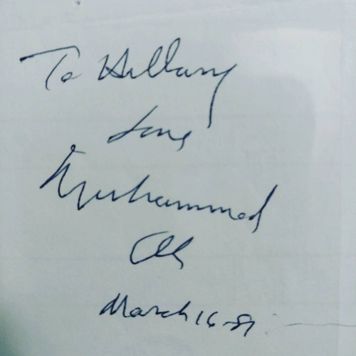 Muhammad Ali autograph