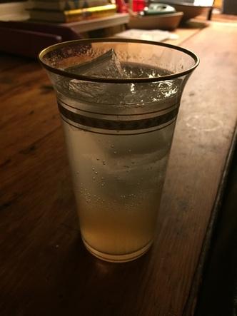 Shrubby Lemonade Spritzer Cocktail with Gin and Hudson Standard Strawberry Rhubarb Shrub