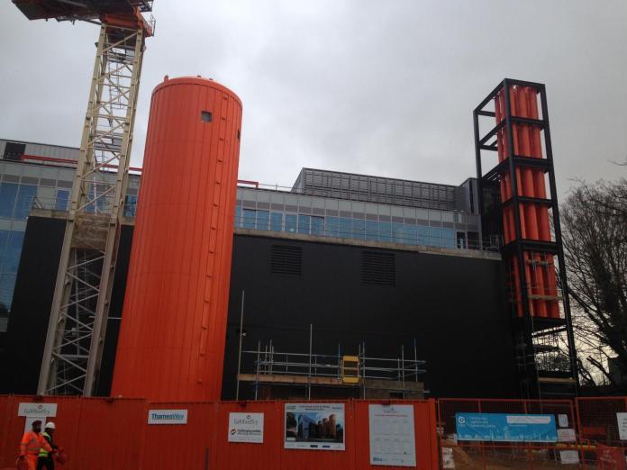 CHP being built in Woking