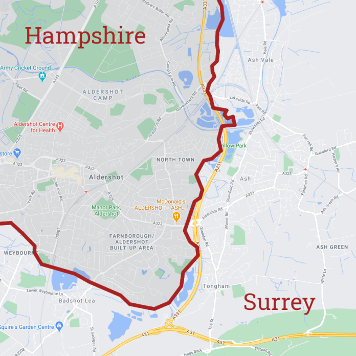 Is Ash in Surrey or Hampshire?