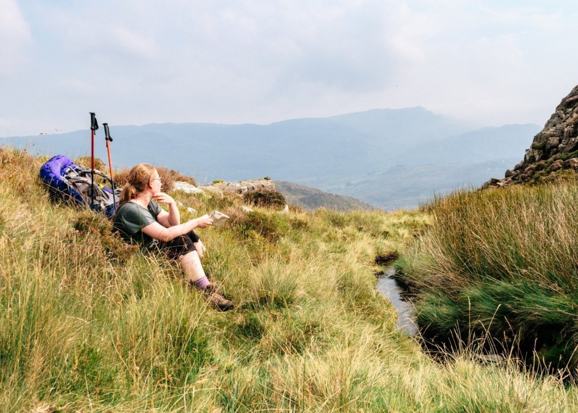 Contemplating the map on my Mountain Leader Training Course