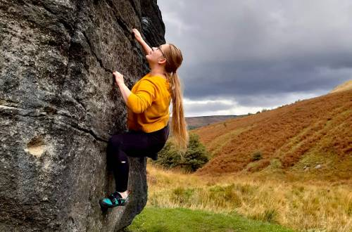 Bouldering at Wimberry Rocks
