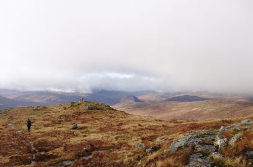 Walking up from Corrour Station