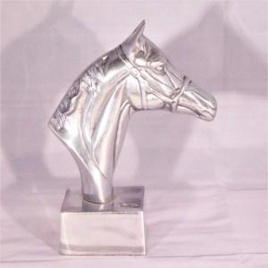 Hästhuvud silverfärg