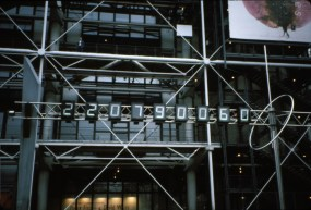 Pompidou Center countdown of seconds to the year 2000. (7 years to go here.)