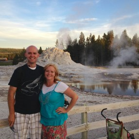 Justin and Wendy in Yellowstone - 2014