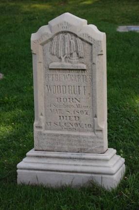 Wife of President Wilford Woodruff