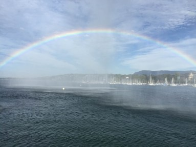 Rainbow from the Jet d'eau