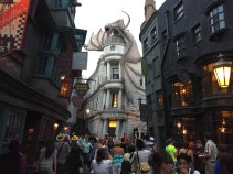 Dragon over Gringotts Bank