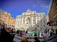 GoPro shot of Trevi Fountain in Rome, Italy