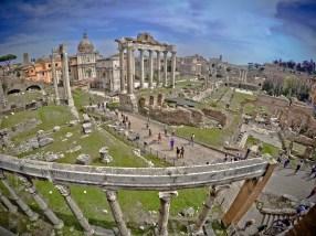 GoPro shot of the Roman Forum