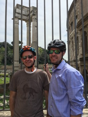 Bike tourists in Rome
