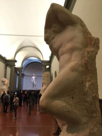 David at the end of the hallway - Accademia Gallery - Florence, Italy