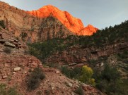 Sunset on Watchman Trail