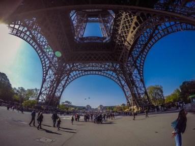 Beneath the Eiffel Tower - GoPro