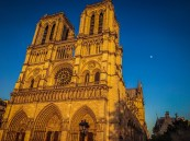 Notre Dame and the moon