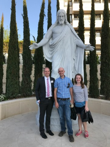 Christus statue at Paris Temple - with Nathan Broadhead