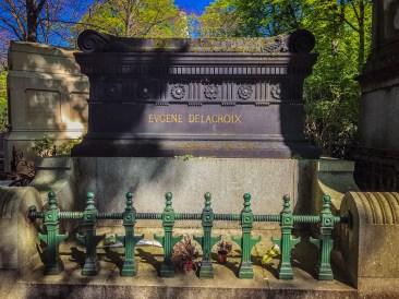 Eugene Delacroix's grave - Pere Lachaise