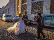 Wedding photos near Sacre Coeur