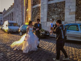 Wedding photos near Sacre Coeur