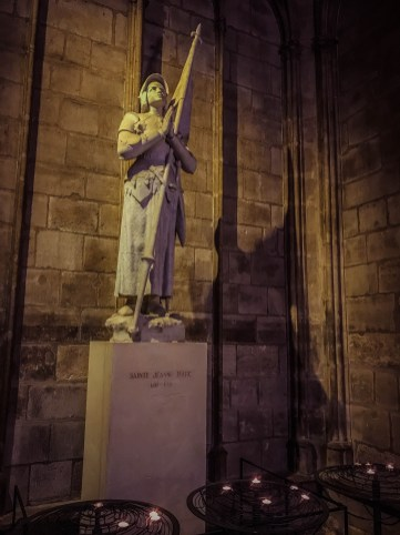 Joan of Arc in Notre Dame Cathedral