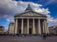 The Pantheon - burial place of Victor Hugo, Voltaire, Marie Curie, and others.