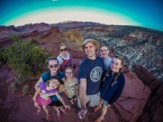 Family selfie at Sunset Point