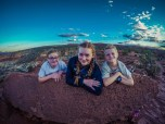 The kids at Sunset Point