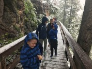 Snow on the way to Minnetonka Caves