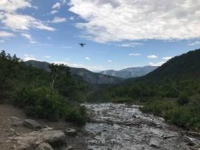 Drone at Stewart Falls