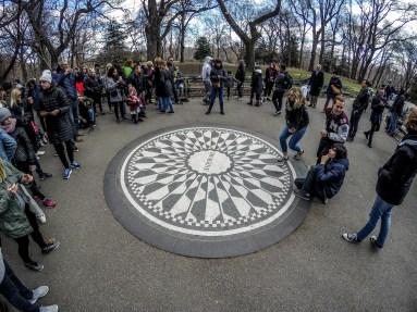 Imagine monument - Strawberry Fields, Central Park