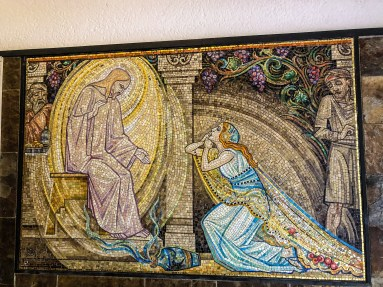 Mosaic at tiny Peter and Paul Church