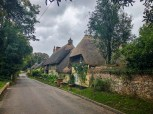 Old thatched-roof homes in Wherwell