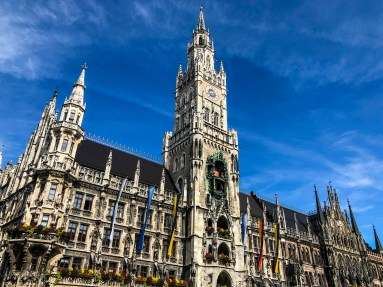 St. Peter's Church and Marienplatz in Munich